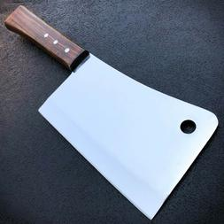 """12"""" MEAT CLEAVER CHEF BUTCHER KNIFE Stainless Steel Full Tan"""