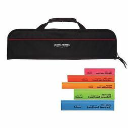 5 Pocket Padded Chef Knife Case Roll with 5 pc. Edge Guards