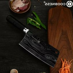 7-inch stainless steel chef's knife for cutting meat with a