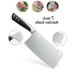 7 Inch Stainless Steel Meat Cleaver – Butcher Knife – Ch