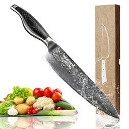8 Inch sharp meat kitchen knife professional wooden handle d