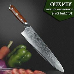 """Chef Knife Knives 10"""" Inch Layers Japanese Damascus Steel Ki"""