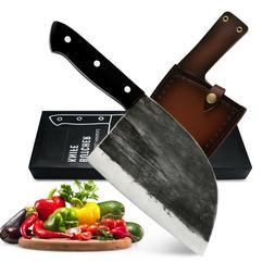 Butcher Knife Meat Cleaver Kitchen Chef's Knife Tang Handle