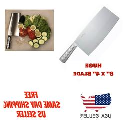 HEAVY DUTY CHINESE Cleaver HUGE 8X4 STAINLESS STEEL - BUTCHE