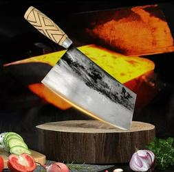Handmade Chef Knife Traditional Forged Cleaver Meat Vegetabl