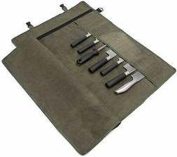 Chef's Knife Roll Bag, Waxed Canvas Knife Cultery Carrier,