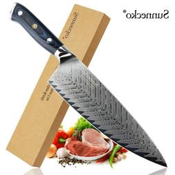 damascus 8 chefs vegetable knife 55mm wide