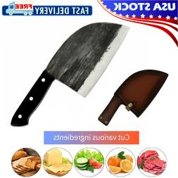 Handmade Forged Kitchen Butcher Knife Chop Cleaver Full Tang
