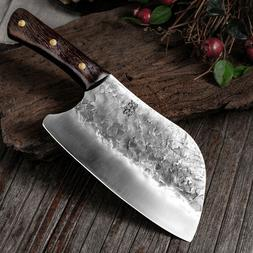 Handmade Forged Kitchen Knife Hammer Stainless Steel Chef's