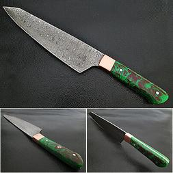 Gyutou FORGED Chef Knife Resin Grips Green Brown by White De