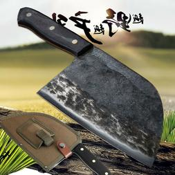 ✅ HANDFORGED HUNTERS SERBIAN CHEF KNIFE HIGH-CARBON CLAD S