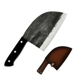 Handmade Forged cleaver butcher knife Full Tang large chef k