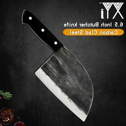 XYJ Handmade Steel Chef Knife Kitchen Butcher Cleaver Carbon