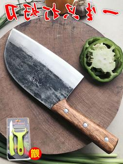 Handmade traditional chinese Forged Chef Kitchen Knife Meat