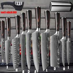 Kitchen Chef Knife Stainless Steel Japanese Damascus Pattern