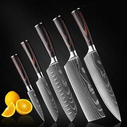 Kitchen Chef's Knife Set Stainless Steel Knives Damascus Pat