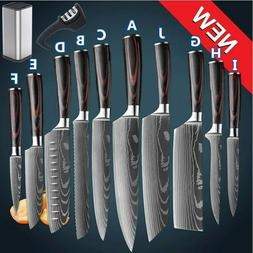 Kitchen Knife Set Professional Japanese Damascus Pattern Sta