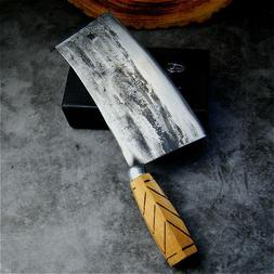 Knife Chef Forged Cleaver Steel Handmade Carbon S Kitchen Ha