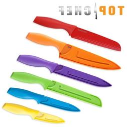 Top Chef 6-Piece Colored Knife Set, Professional Grade