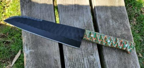 """8"""" Handmade Kitchen Chef Vegetable Knife in High Carbon 1045"""