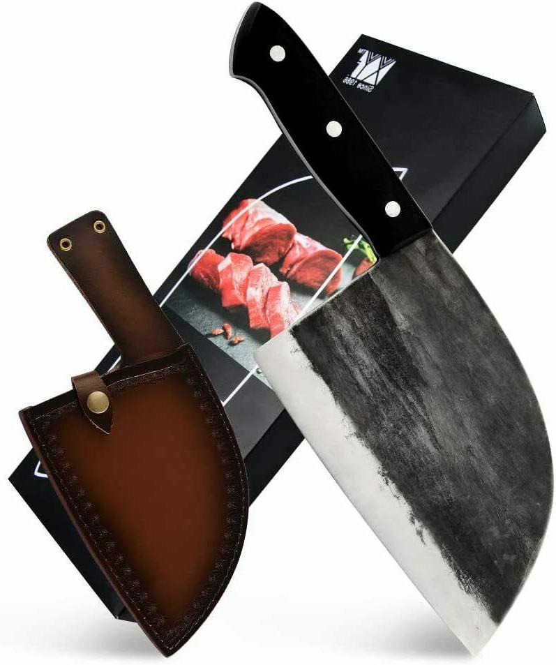 forged kitchen butcher knife chop cleaver full