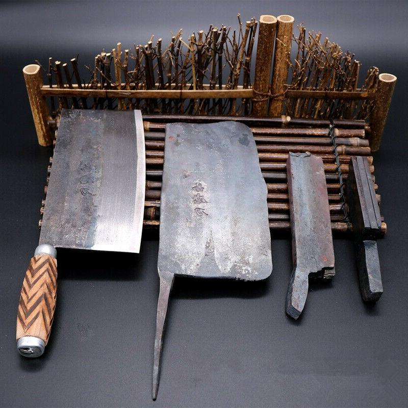 forged steel cleaver knife traditional chinese chef