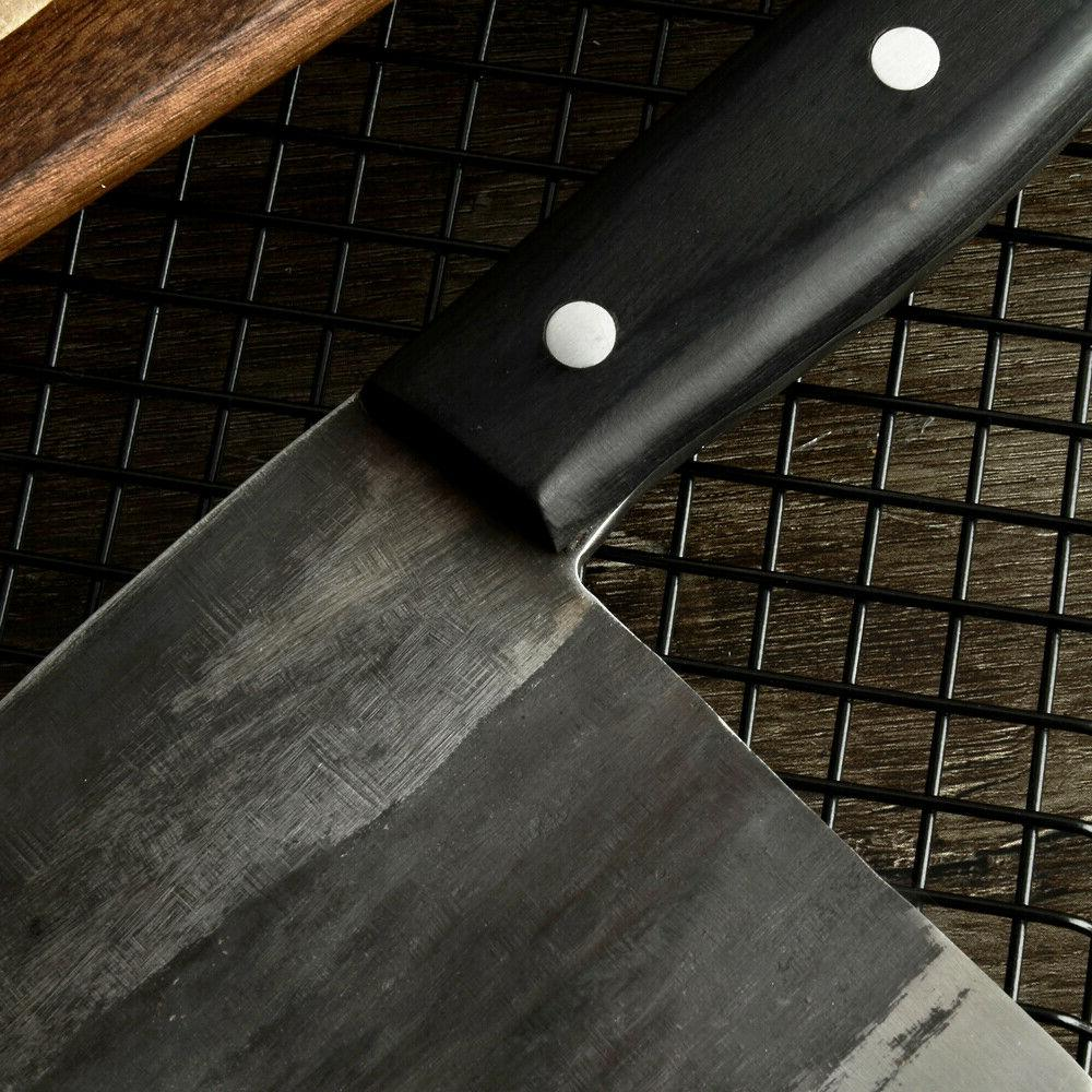 Kitchen Chef Knife Serbian Cleaver Forged High-Carbon