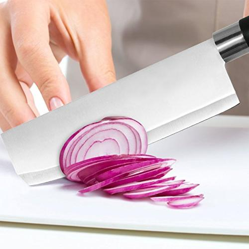 Asian Vegetable Knife, 7-Inch Stainless Kitchen Chef's Knife -Professional for
