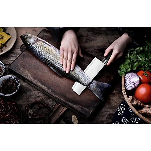 Asian Knife, 7-Inch Stainless Kitchen Chef's Meat -Professional Quality for