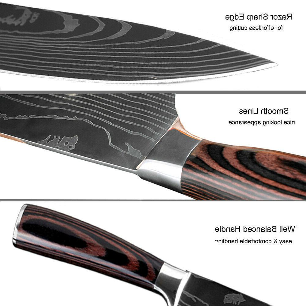 8 Set Japanese Damascus Stainless Steel Chef