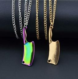 Punk Stainless Steel Kitchen Knife Pendant Chef Necklace Wom