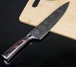 """Stainless Steel 8"""" Professional Chef Knife Japanese Damascus"""