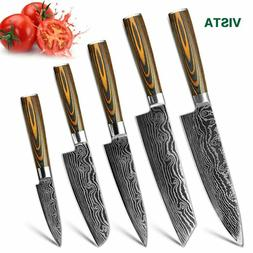 Stainless Steel Kitchen Knives Set 7CR17 Japanese Style Muti